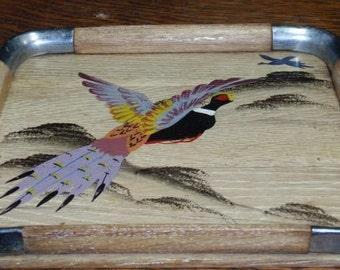 Wood Handpainted Duck Tray