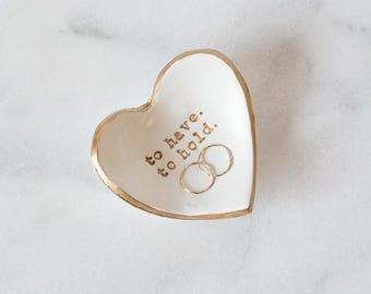 Custom Heart Ring Dish, Heart Shaped Ring Holder, Custom Ring Dish Heart, Ring Dish, Ring Storage, Wedding Gift, Anniversary Gift