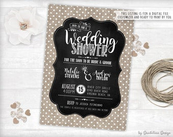Couples Wedding Shower Invitation Printable