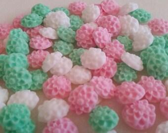 50 Edible Sugar Chrysanthemums Birthday Wedding Cake Cupcake Toppers