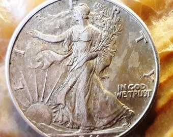 1941 Walking Liberty pre 64 raw silver half dollar