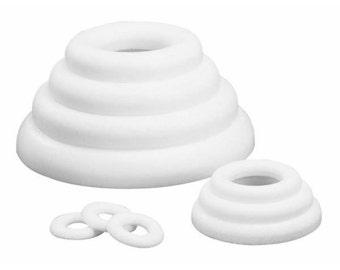 Polystyrene plates, rings 35 cm code: RAY-333308100