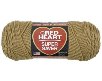 Ball Red Heart Super Saver, Light Brown