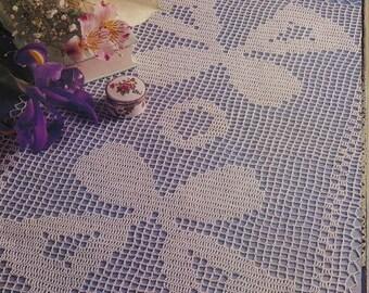 239. Vintage crochet  runner with bells UK pattern in pdf