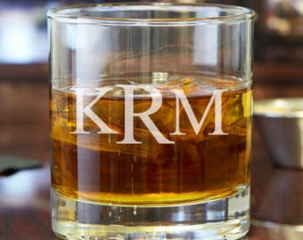 Classic Deluxe Monogram Engraved Personalized 10 oz Rocks Glasses -Whisky Glasses - DGI23-A10-RCK10OZ