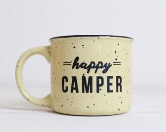 Camping Mug, Campfire Mug, Coffee, Happy Camper Mug, Adventure Awaits Mug, Coffee Mug, Happy Camper, Adventure Awaits Coffee Mug