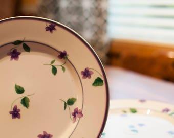 Four Salad Plates | Waverly | Garden Room | Sweet Violet