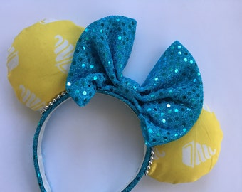 Pineapple Dole Whip Ice Cream Inspired Mickey Mouse Ears