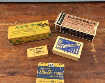 Lot Vintage Office Supplies, Office Supply, Markwell Staples, Apollo, Gum Cleaner, GXO Brads Presto, Vintage Supplies, Old Retro Desk, 1950s