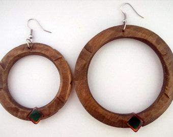 Wood/Wooden earrings earring