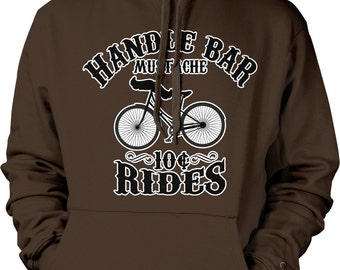 Handle Bar Mustache, 10 Cent Rides Hooded Sweatshirt, NOFO_00190