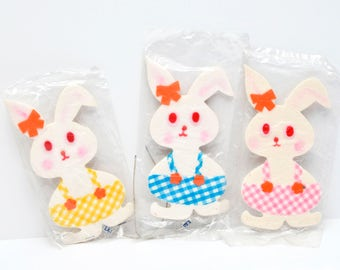 Vintage Easter Bunny Styrofoam Decorations (3)
