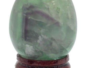 Cosmic Egg Fluorite Super 439 Cts Hand Carved Gemstone Sacred Geometry E373