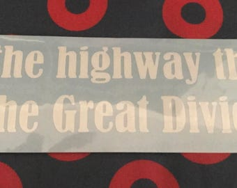 The Great Divide car sticker