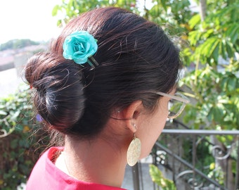 Handmade Paper Flower Hair Clips