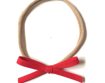 Mini Retro Headband || red