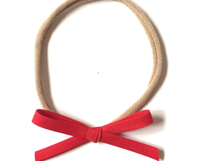 Mini Retro Headband || red
