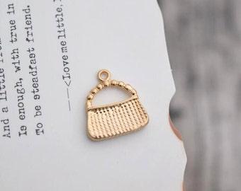 10 bag charms gold charm pendants