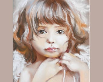 My angel. Print of the painting by Annet Loginova on canvas.