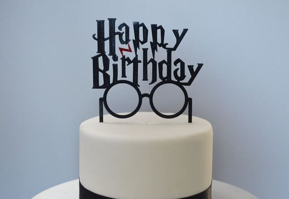 sale happy birthday harry potter inspired cake topper