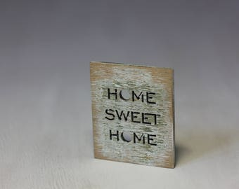 Home sweet ... sign / wooden plaque for doll