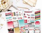 Shabby Rose - Planner Stickers, Weekly Sticker Set, Quote Stickers, Full Boxes,  Functional Stickers, Decorative Stickers, Half box stickers