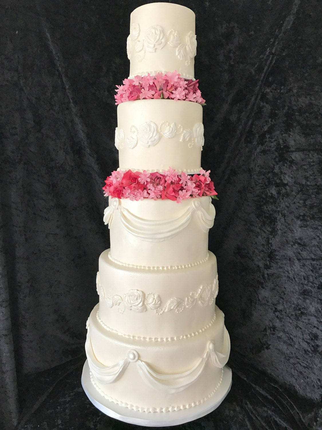 5 tiered wedding cake pictures five tier faux wedding cake 10458