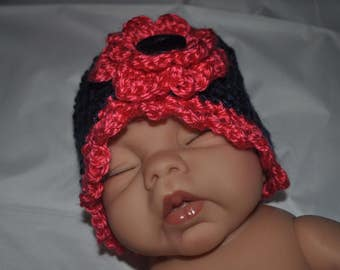 Crochet Baby Beanie - Newborn - 6 months