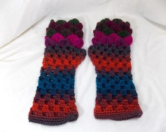 Dragon Scale Gloves ,Crocodile Fingerless Gloves,Dragon Scale Fingerless Gloves
