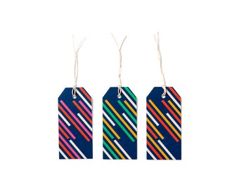 STRIPES | Gift Tags x6