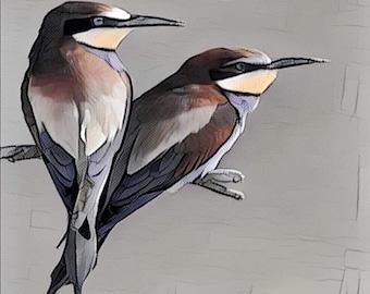 Birds wall art canvas .... various sizes available
