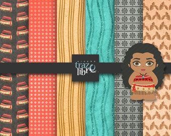 DIGITAL Clip Art MOANA: Digital moana | INSTANT Download | Digital paper | Scrapbooking digital | party clip art | Digital kids | clip art