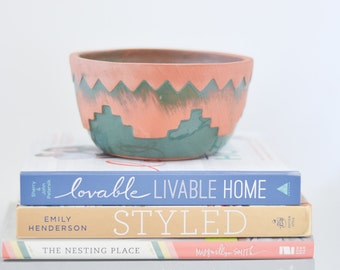 Southwest Clay and Painted Bowl