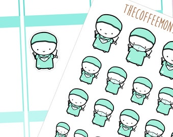 surgeon emotis - emoti planner stickers E082