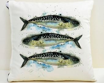 Mackerel Cushion Cover
