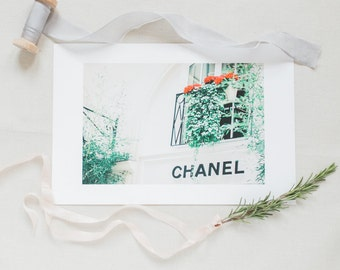 Paris Photography, Her Favourite Storefront, Fine Art Photography, Travel Photography, Art Print, Photography Print, Chanel Print