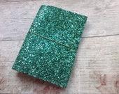 Glitterdori, ready to ship travellers notebook, no pockets