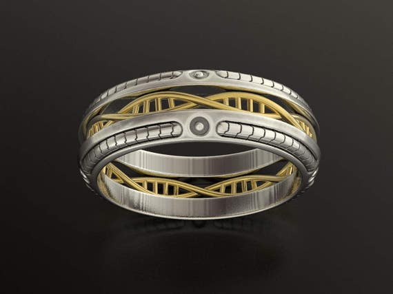 DNA Wedding Ring Geek Braided