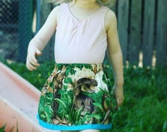 dinosaur skirt | science skirt |  dinosaur kids clothes |  science kids clothes | skirt with pockets | size 2-5