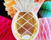Gold Pineapple Paper Plates by Meri Meri // Fruit Tableware // Bar Cart // Tropical Party // Luau // Bachelorette // Party Supplies
