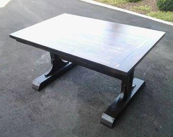 Custom Pedestal Farmhouse Table