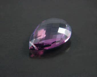 Beautiful Amethyst Hydro Quartz Net Faceted Pear Briolette Focal Pendant in Choice of Four Sizes with Excellent Faceting and Polishing