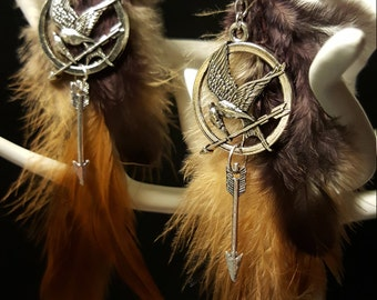 Fandom mocking Jay - feathers - charms earrings