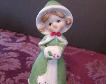 Winter girl Figurine Bell, (# 440/15)