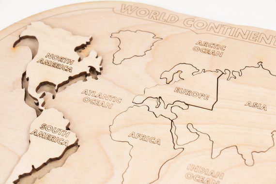 Kids puzzle world map puzzle educational puzzle like this item gumiabroncs Image collections
