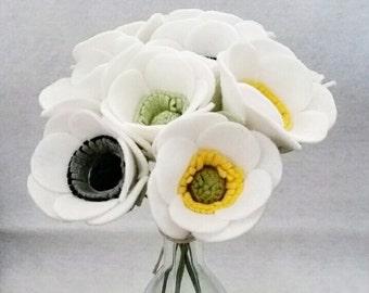 Felt Anemone Bouquet