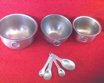 Mixing bowl set, stainless steel , measuring spoon set, kitchen ware, cooking