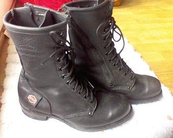Vintage combat boots men | Etsy