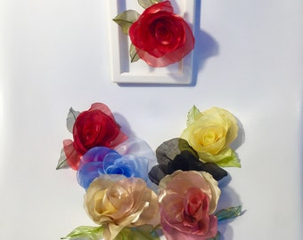 Rose fabric Flower Accessory Hair Jewelry Rose Fabric Flower Hair Clip