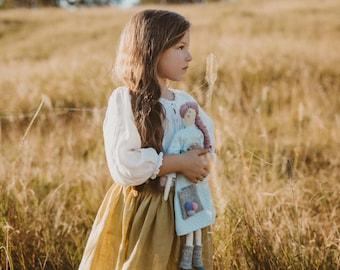 """Custom Tilda Doll - Personalized Ragdoll - OOAK Doll - Fabric Doll -  Pastel Doll - Modern Cloth Doll  - 47cm/ 18"""" tall - Silk With Cotton"""